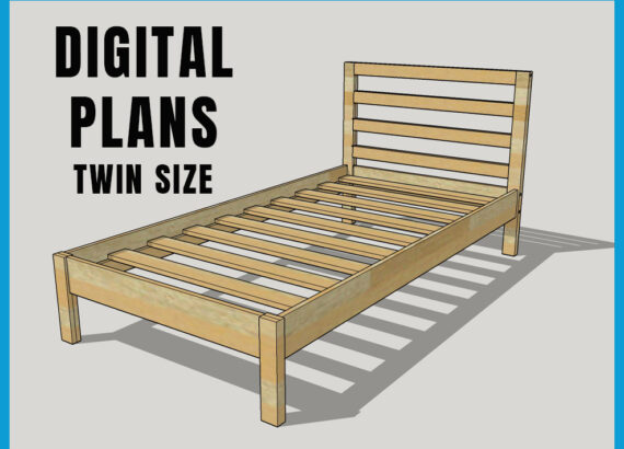 Diy Twin Bed Made By Mitch, How To Build A Simple Twin Bed